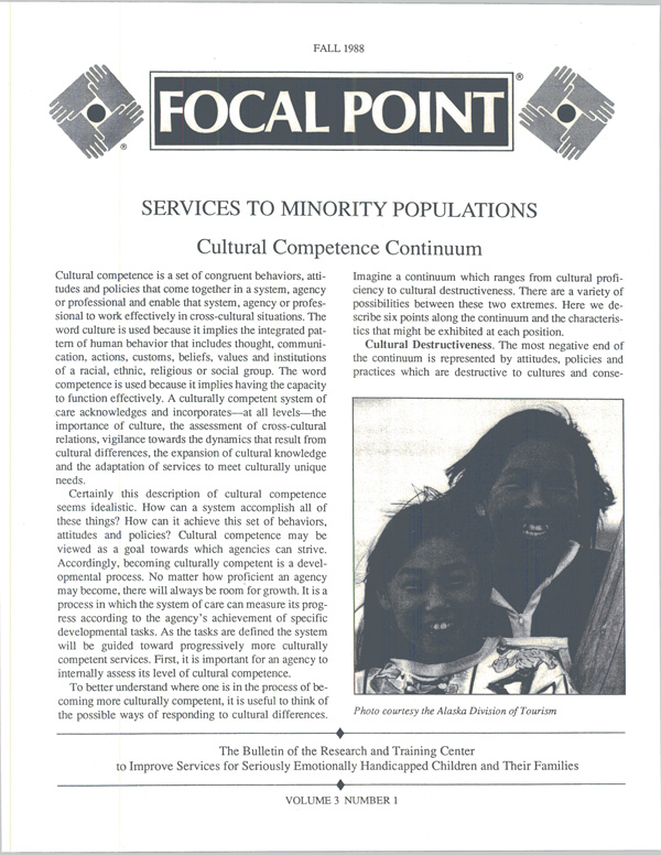 Fall 1988 Focal Point cover