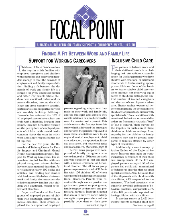 Fall 1999 Focal Point cover