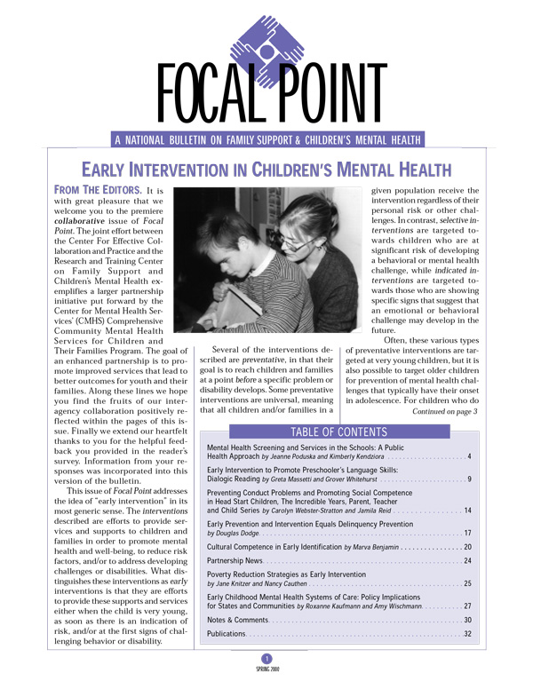 Spring 2000 Focal Point cover