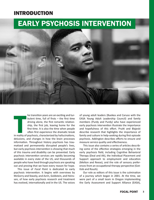 Introduction: Early Psychosis Intervention