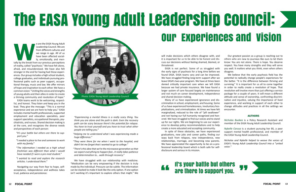 The EASA Young Adult Leadership Council: Our Experiences and Vision