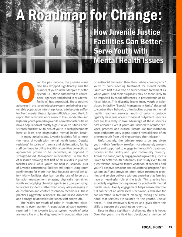 Focal Point How Juvenile Justice Facilities Can Better Serve Youth