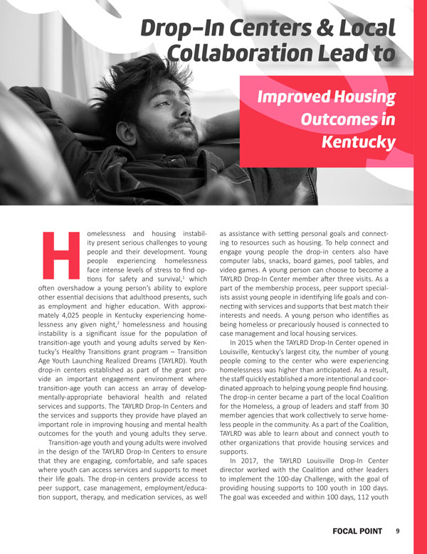 Drop-in Centers and Local Collaboration Lead to Improved Housing Outcomes in Kentucky
