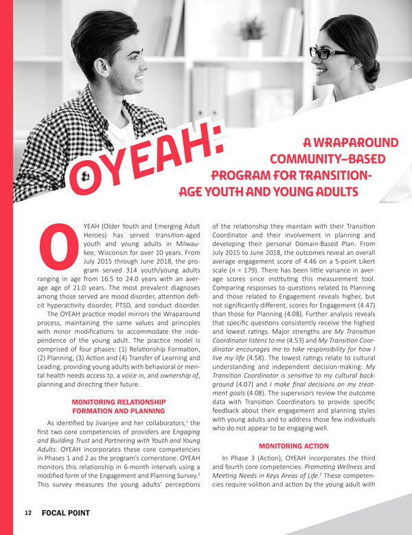 OYEAH: A Wraparound Community-Based Program for Transition-Age Youth and Young Adults