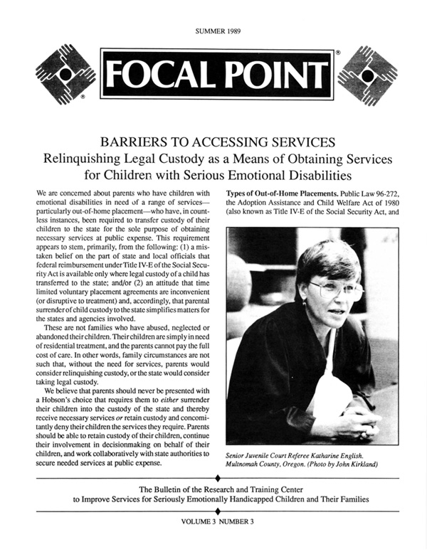 Summer 1989 Focal Point cover