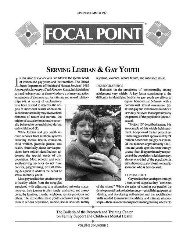 Spring/Summer 1991 Focal Point cover