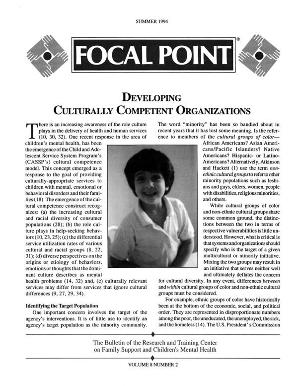 Summer 1994 Focal Point cover