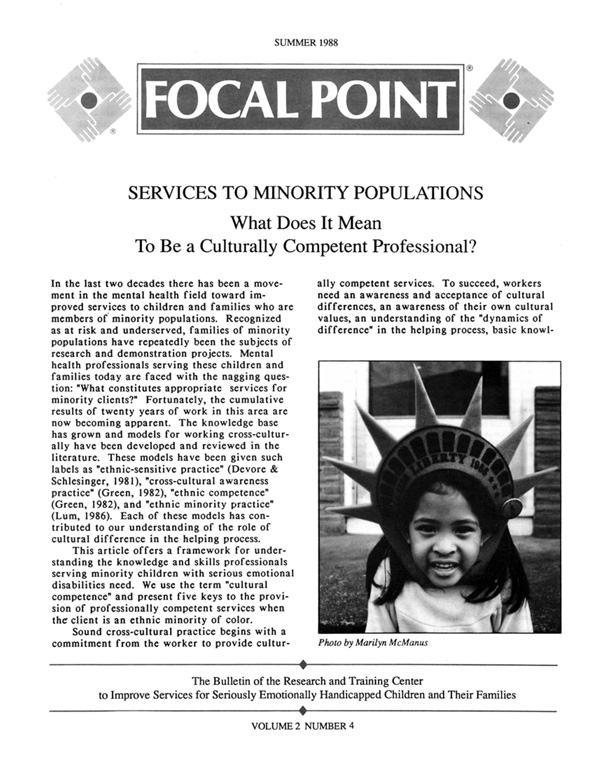 Summer 1988 Focal Point cover
