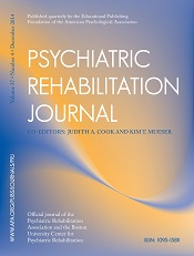 Psychiatric Rehabilitation Journal
