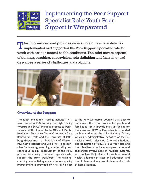 Implementing the Peer Support Specialist Role (Wraparound)
