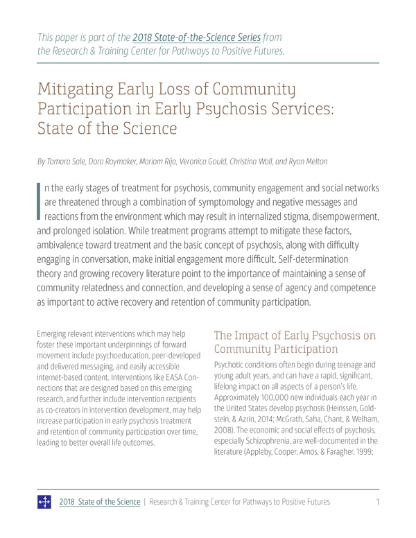 Building Competencies and Skills among Service Providers: State of the Science