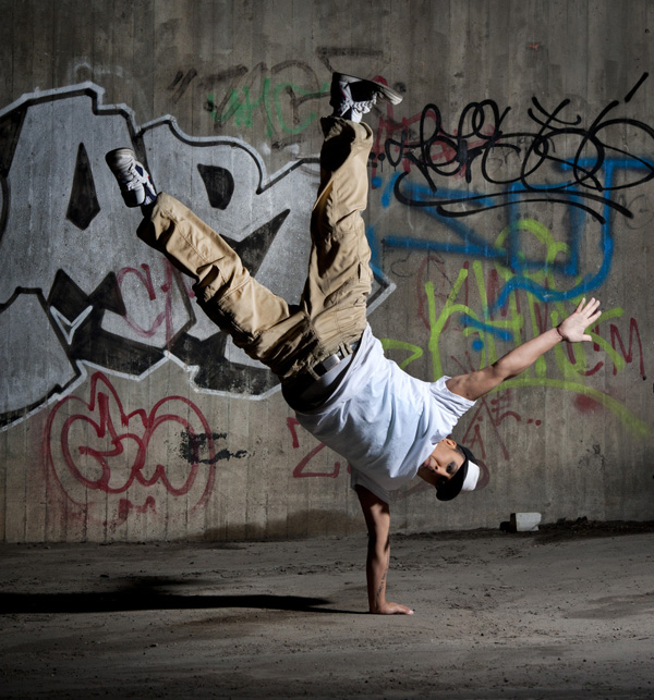 young person breakdancing