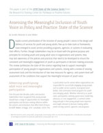 Assessing Youth Voice in Policy (SoS article) [enable images to see]
