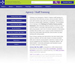 Pathways Agency/Staff Training web page screenshot [enable images to see]