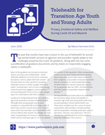 'Telehealth for Transition Age Youth' tipsheet [enable images to see]