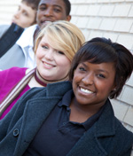 young people standing together [enable images to see]