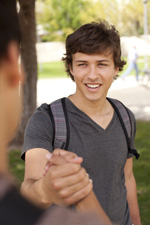 Peers shaking hands [enable images to see]